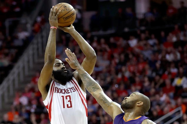 James Harden scores 40 as Rockets down Suns for fourth straight win