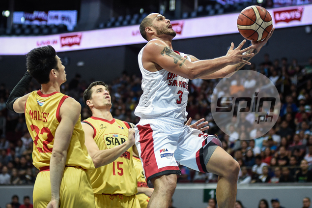 Timely Sol Mercado treys save Ginebra from falling 0-3 behind against Star