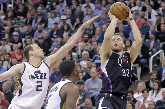 Double-doubles by Blake Griffin, DeAndre Jordan power Clippers past Jazz