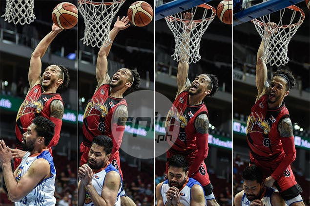 This dunk could've punctuated a career night for red-hot Chris Ross. Well, almost