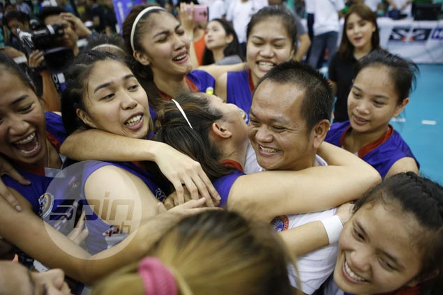 Widowed Arellano coach Obet Javier thanks 'guardian angel' after unbelievable finals feat