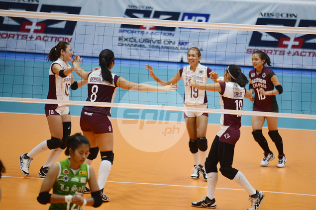 UP heroine Nicole Tiamzon overcome by emotion as Lady Maroons savor view from top