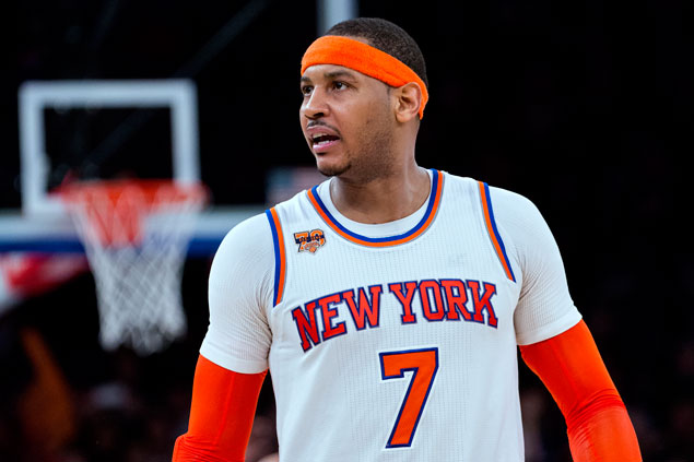Carmelo Anthony replaces injured Kevin Love in East roster for NBA All-Star Game