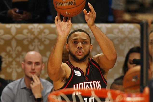 Rockets' Eric Gordon edges former champ Kyrie Irving in 3-point shootout in New Orleans