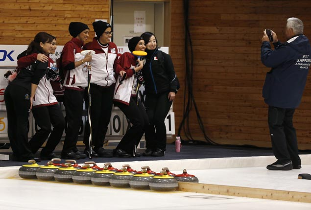 From desert to ice: Qatar takes on curling at Asian Winter Games