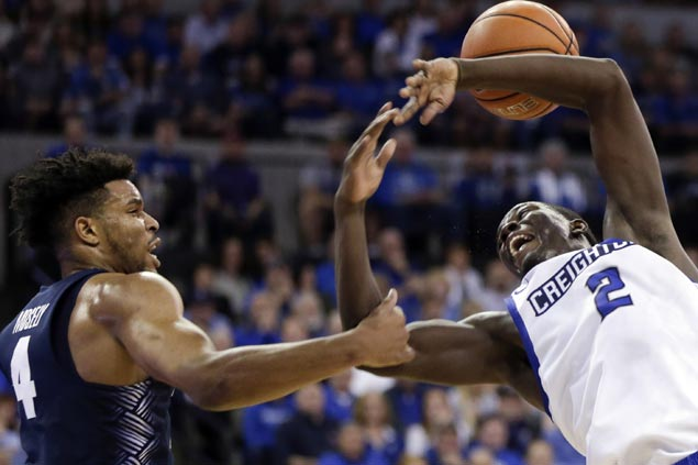 Marcus Foster scores career-high 35 to power Creighton past Georgetown as Kobe Paras again a DNP
