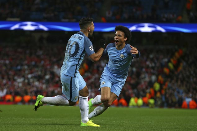 Manchester City makes sensational finish to beat Monaco in wild Champions League game