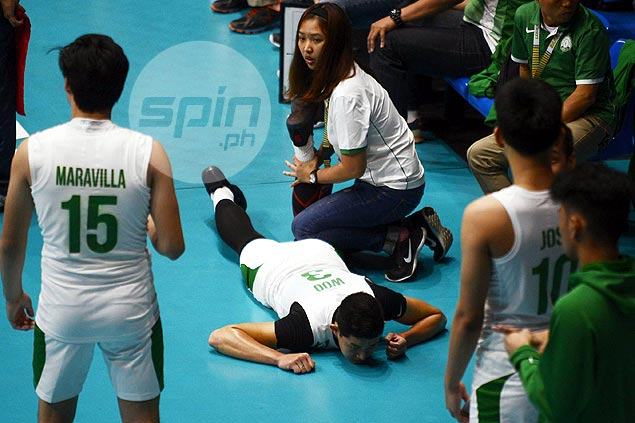 La Salle top hitter Raymark Woo fears suffering second ACL tear on same knee