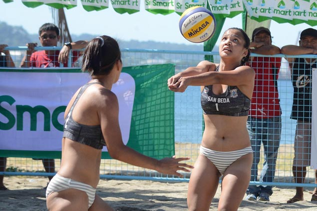 Jeziela and Nieza Viray score twin wins in NCAA women's beach volleyball in Subic