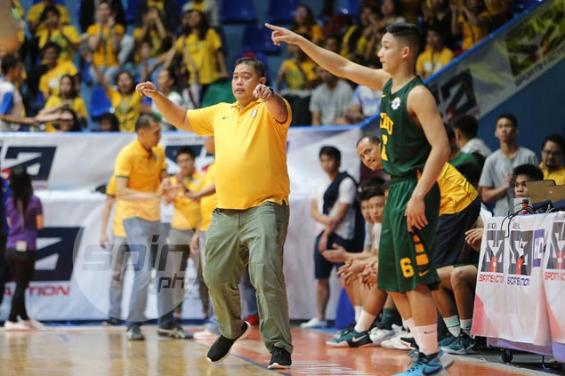 FEU coach Albano guards against complacency as Baby Tams gun for UAAP finals sweep vs Bullpups