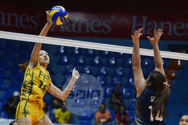 FEU Lady Tamaraws beat NU Lady Bulldogs to gain share of fourth spot in UAAP women's volleyball
