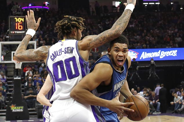Karl-Anthony Towns, Andrew Wiggins take charge as Timberwolves cruise past Kings