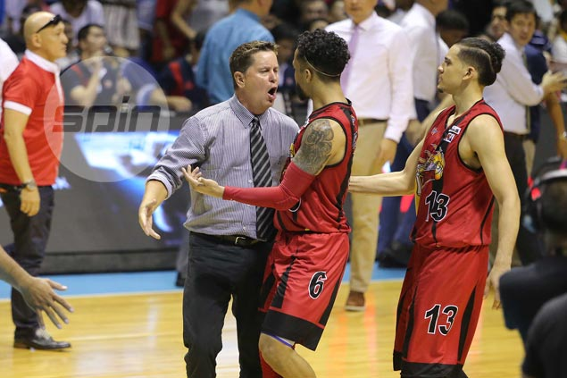 Chris Ross insists it wasn't his intention to disrespect Ginebra with garbage-time trey