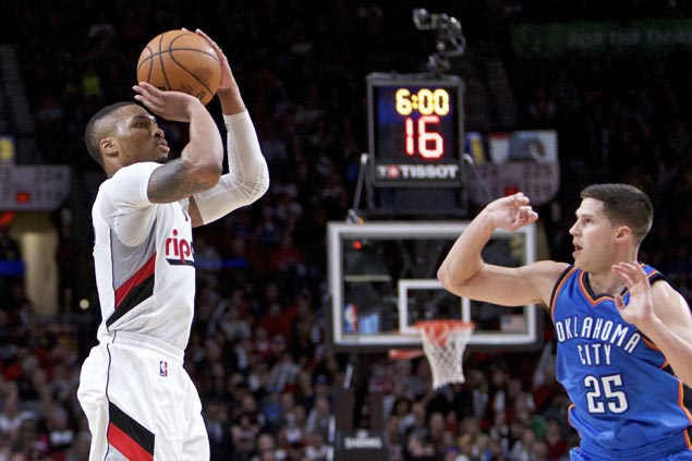 Damian Lillard, Jusuf Nurkic lead Blazers comeback to snap Thunder win streak at four
