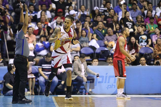 San Miguel fends off late Ginebra rally to move on verge of all-Filipino three-peat