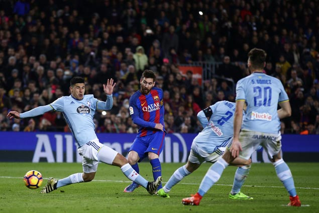 Barca routs Celta to get big boost ahead of Champions League match against PSG