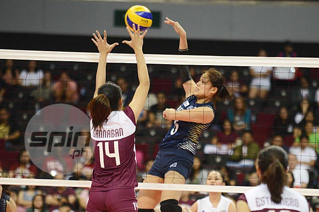 NU Lady Bulldogs show steely resolve to fight off UP Lady Maroons in five-set thriller