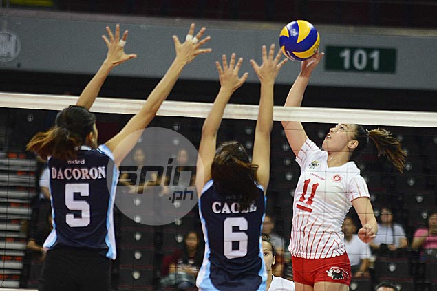 UE Lady Warriors move out of cellar after downing Adamson Lady Falcons in battle of bottom teams