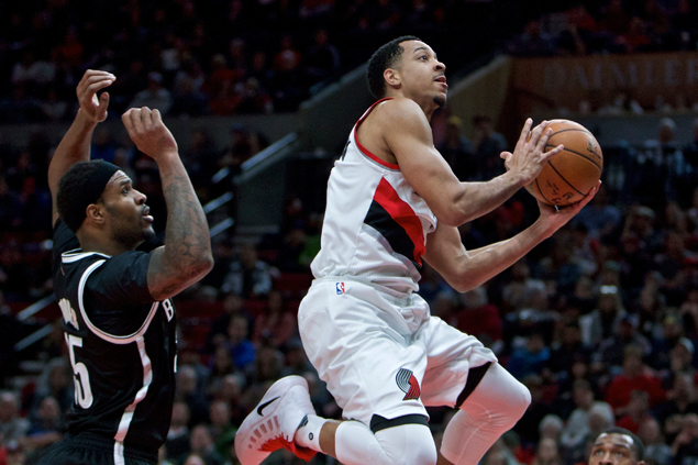 Hot-shooting Blazers overpower lowly Nets for second straight win