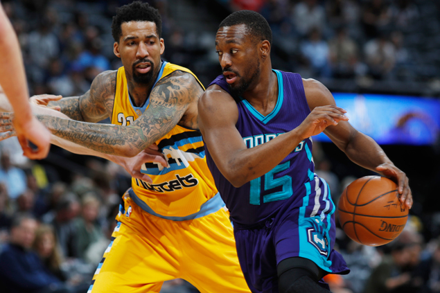 Kemba Walker hits five of Hornets' 16 triples in big win over Nuggets