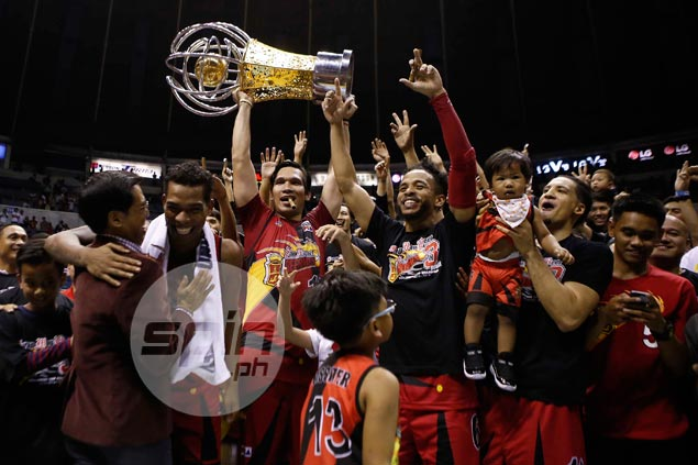 San Miguel completes PBA three-peat by holding off Ginebra rally in Game Five thriller