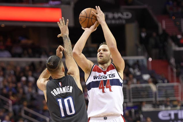 Bojan Bogdanovic hits career-high eight triples as Wizards fight back from 17 down to beat Magic