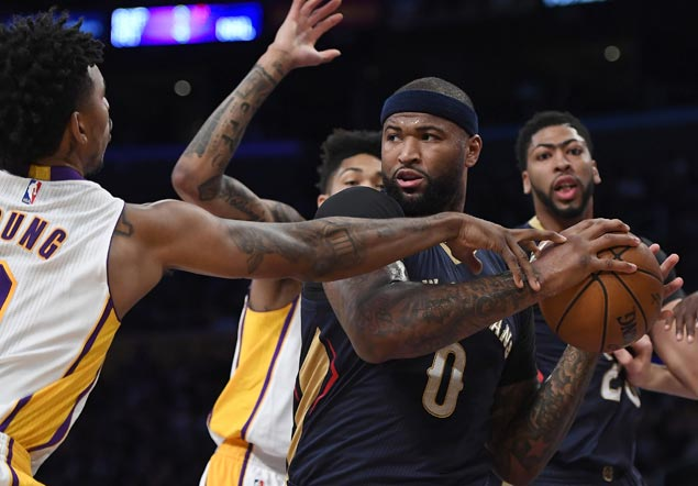Boogie-Brow duo finally win as Pelicans down West tailenders Lakers