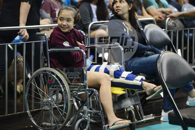 UP Lady Maroons libero Princess Gaiser out for season with ACL tear on left knee