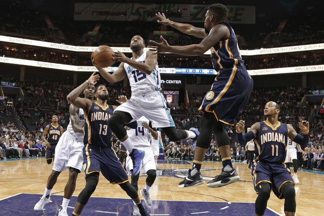 Hornets beat road-weary Pacers, spoil Paul George's 36-point night