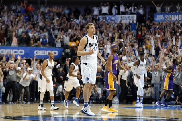 Dirk Nowitzki enters 30K club as surging Mavs roast reeling Lakers with another romp