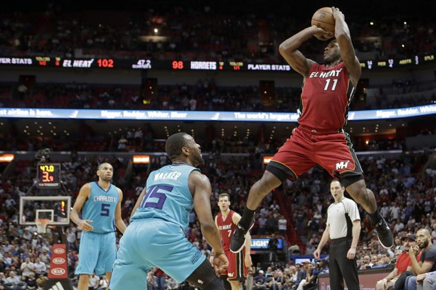 Heat outsteady Hornets to extend win streak to three