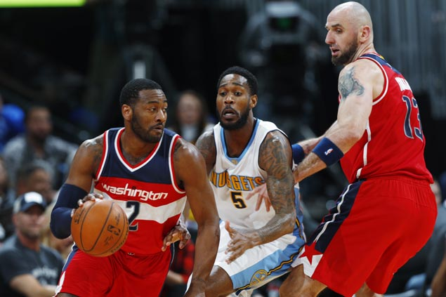 Wizards stretch streak to three with rout of Nuggets