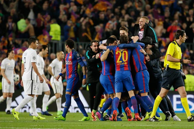 Barcelona completes improbable comeback vs PSG in Champions League thriller