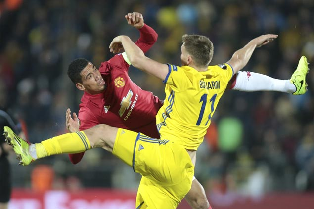 Manchester United settles for draw at Rostov in first leg of Europa League last-16 tie