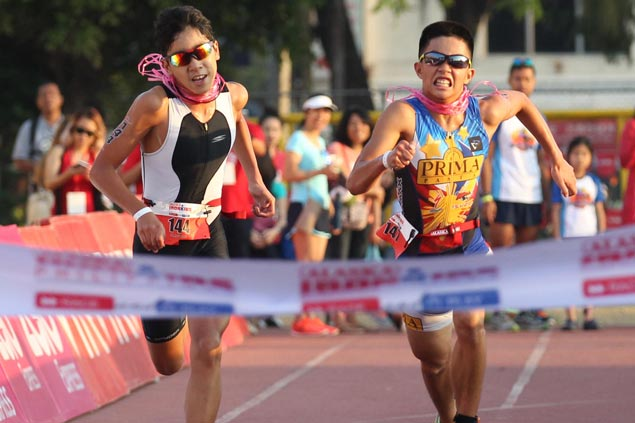 Wacky Baniqued edges Clifford Pusing to win Ironkids 13-14 age-group again