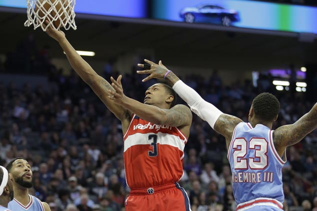Bradley Beal, John Wall lead late charge as streaking Wizards rally past pesky Kings in OT