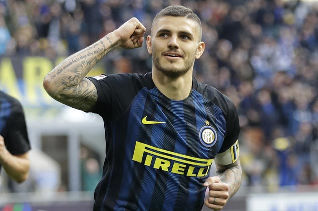 Mauro Icardi and Ever Banega net hat tricks as Inter rips Atalanta