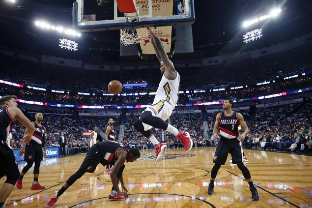DeMarcus Cousins shines as Pelicans down Trail Blazers for second straight victory