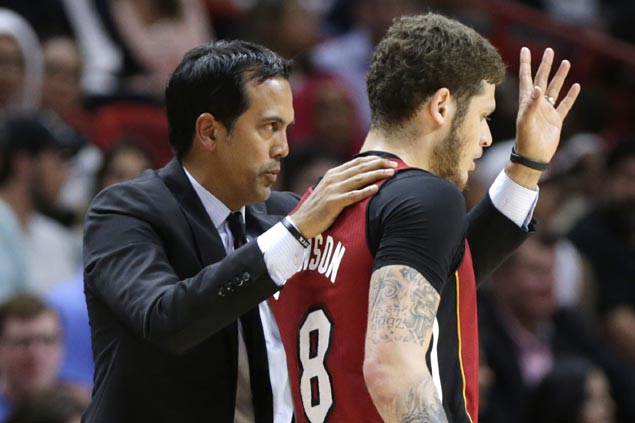 Spoelstra refuses to get carried away as fiery Heat make unlikely run at playoff spot
