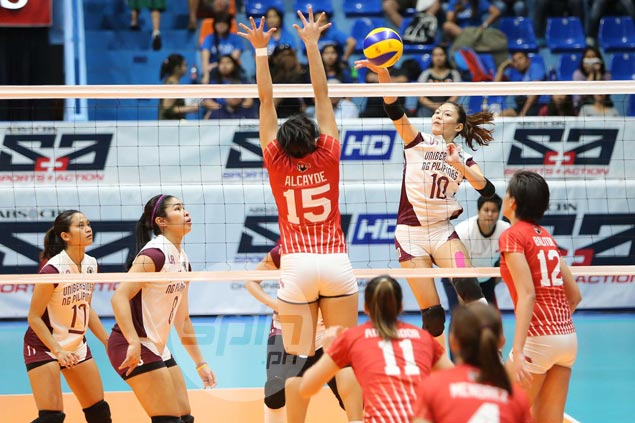 UP Lady Maroons overcome brief lapse to beat UE Lady Warriors and arrest four-match slide