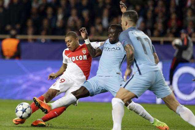 Huge away goals power Monaco past Man City and into last eight of Champions League