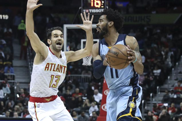 Conley, Gasol take charge as Grizzlies overcome Hawks late rally to stretch win run to three