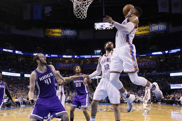 Russell Westbrook, Doug McDermott show way as Thunder down Kings for fifth straight win
