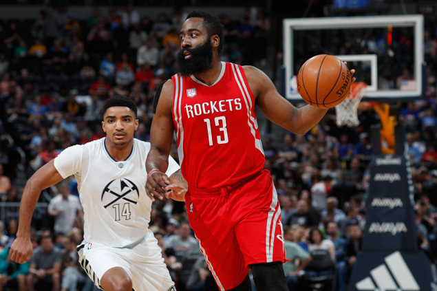 James Harden scores 40, posts triple-double as Rockets defeat Nuggets