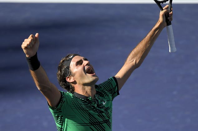 Roger Federer bags 90th career title with record-tying fifth victory at Indian Wells