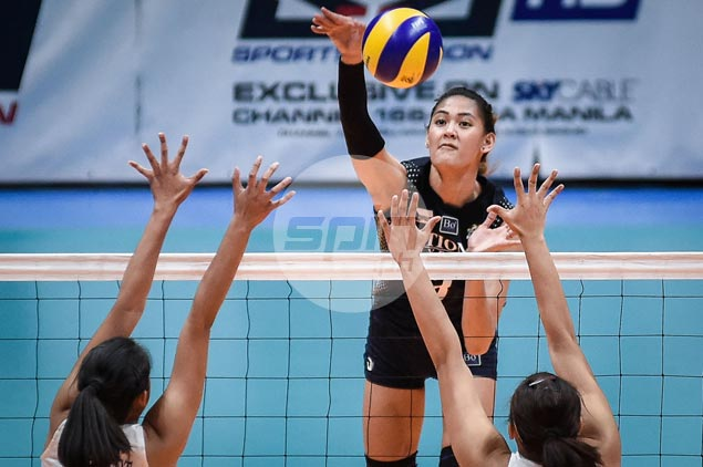 NU Lady Bulldogs win five-set thriller to end Ateneo Lady Eagles win streak at eight