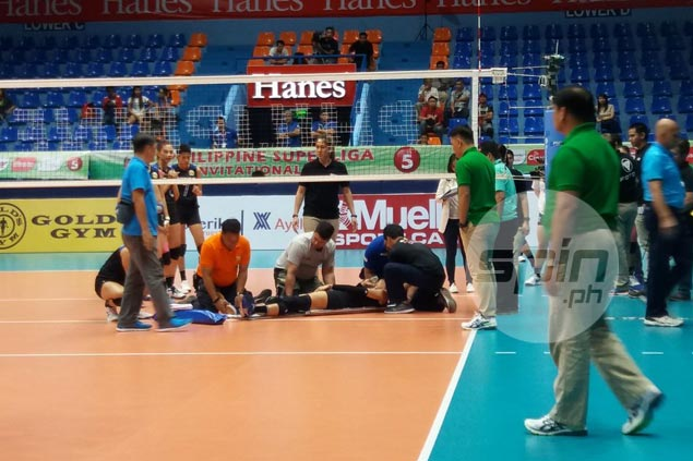 Foton star Dindin Santiago-Manabat set for MRI to determine extent of knee injury