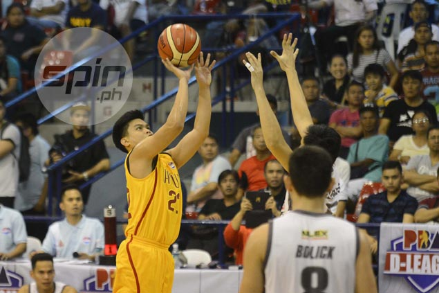 Lester Alvarez's breakout game goes for naught, but vows to help Tanduay reach D-League finals