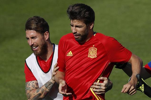 Rivals turned Spain teammates Sergio Ramos, Gerard Pique call truce on word war