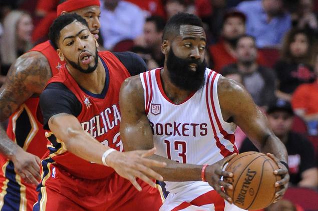 James Harden scores 38, ties career-high 17 assists as Rockets overcome Pelicans
